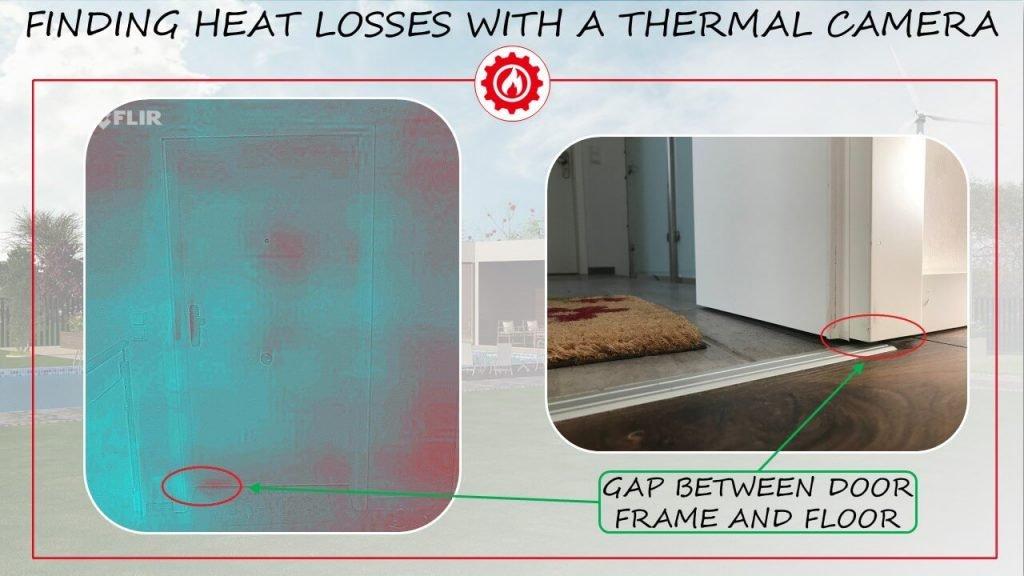 Heat loss under the door
