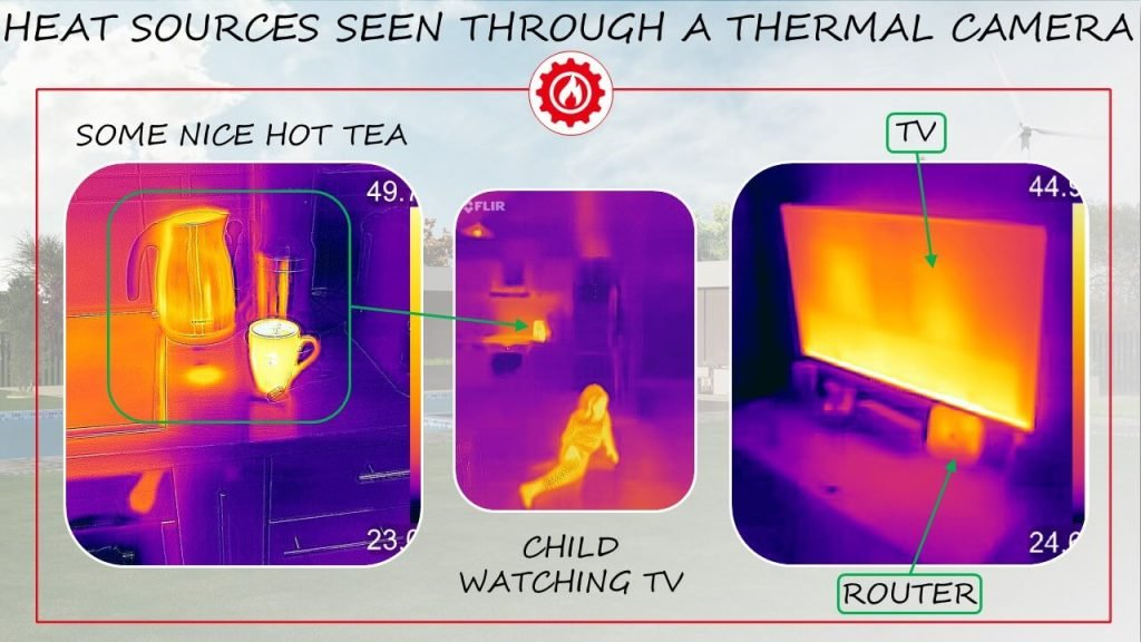 Thermal camera heat reading