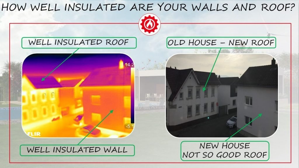 House insulation through thermal camera