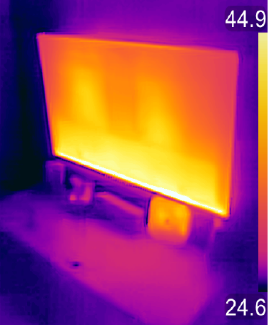 Home infrared thermal imaging - television and modem thermal reading
