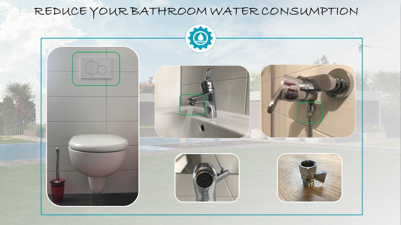 Reduce bathroom water consumption