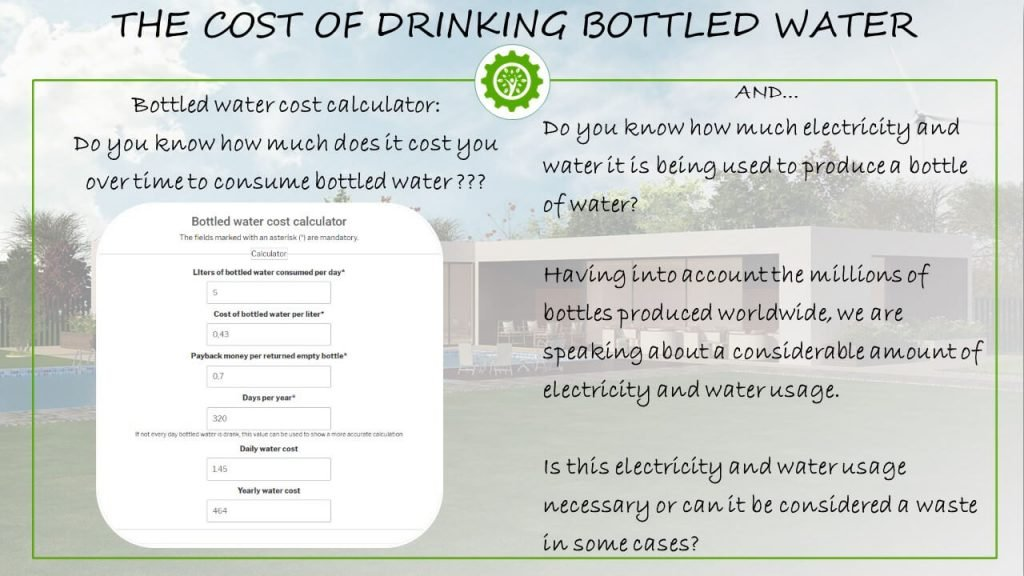 The cost of bottled water
