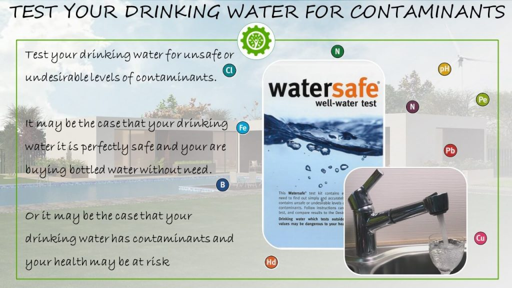 Test your drinking water for contaminants