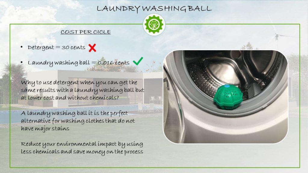 Laundry washing ball - Washing without detergent eco alternative