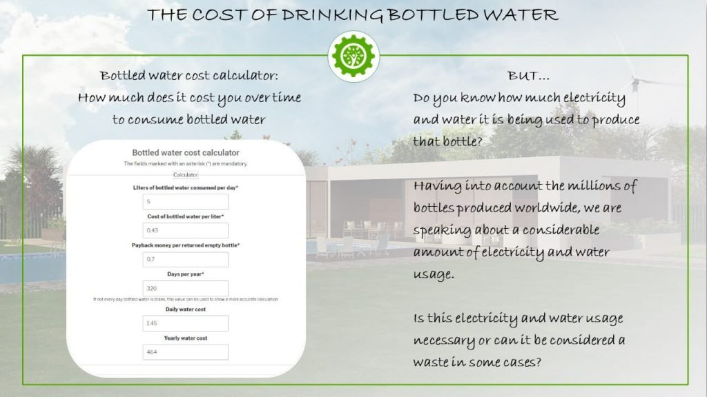 The cost of drinking bottled water