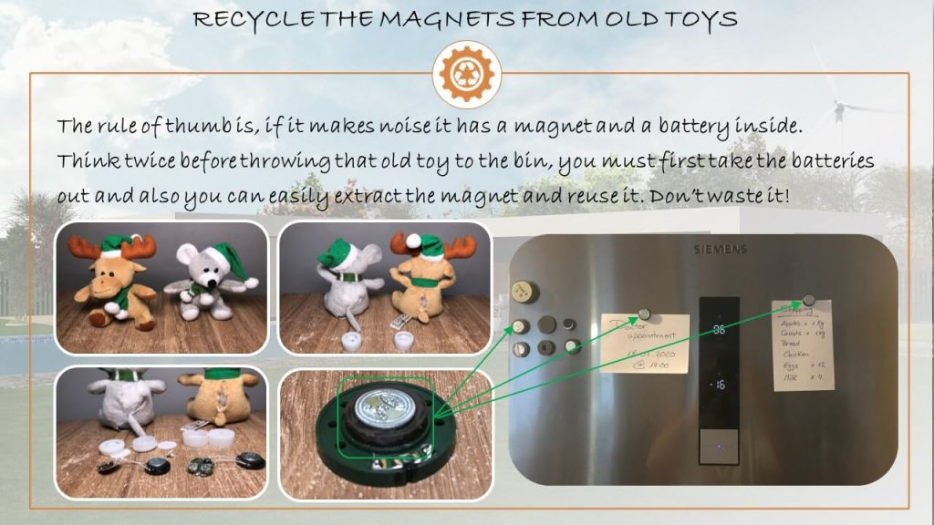 recycle toy magnet