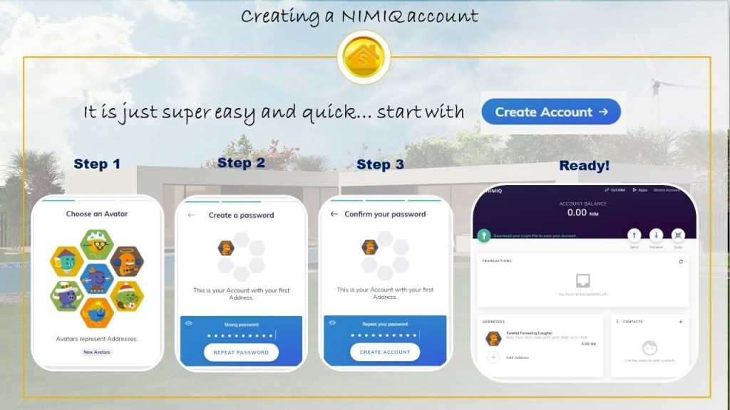 create Nimiq account